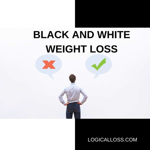 Black and White Weight Loss Image