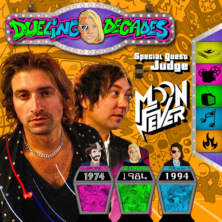 Rock band Moon Fever judges who had the best August 1974, 1984 or 1994!