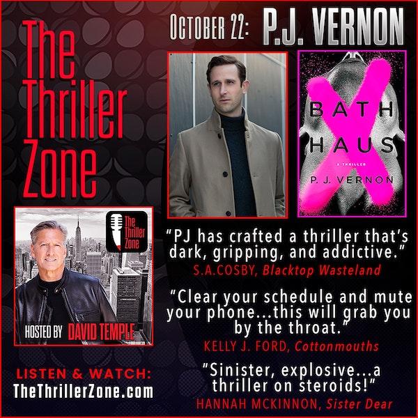 PJ Vernon, the thriller author of BATH HAUS Image