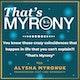 """""""That's Myrony"""" (My + Irony) Album Art"""