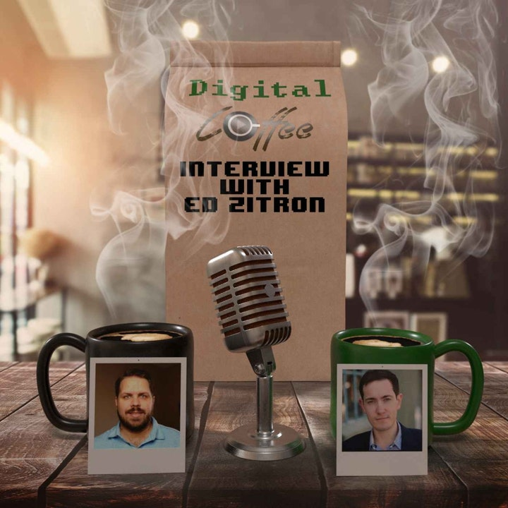 Episode image for Digital Coffee Interiews Kitecaster Ed Zitron about the Gaming Industry