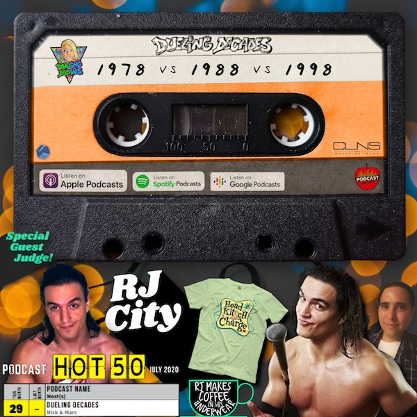 RJ City is back for round two of this showdown between the last week of June 1978, 1988 & 1998!