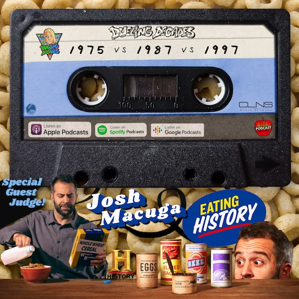 It's a retro food fight with Josh Macuga from History Channel's Eating History!
