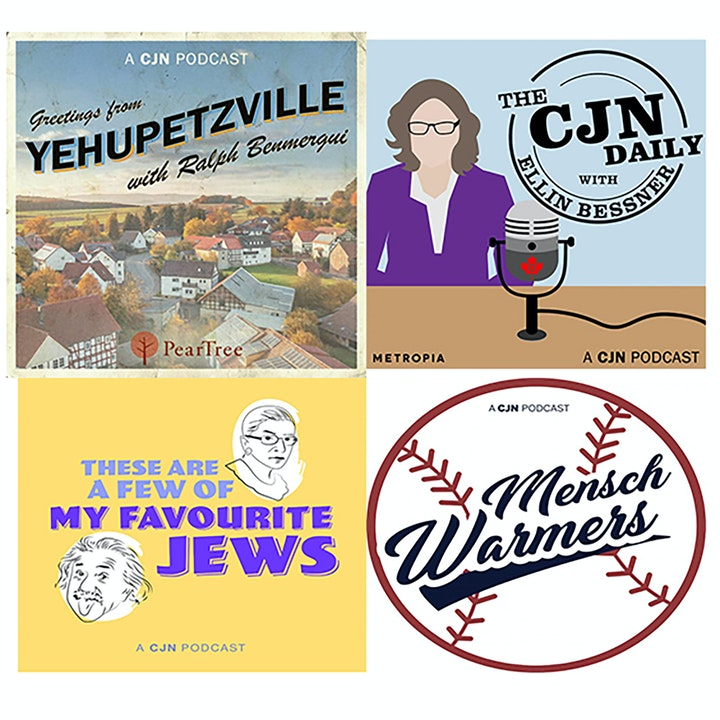 Michael Fraiman and Ellin Bessner from the CJN Podcast Network