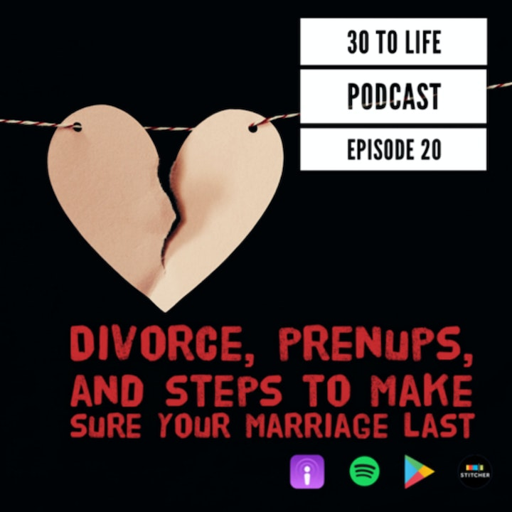 Ep 20: Divorce, Prenups, And Steps To Make Sure Your Marriage Last