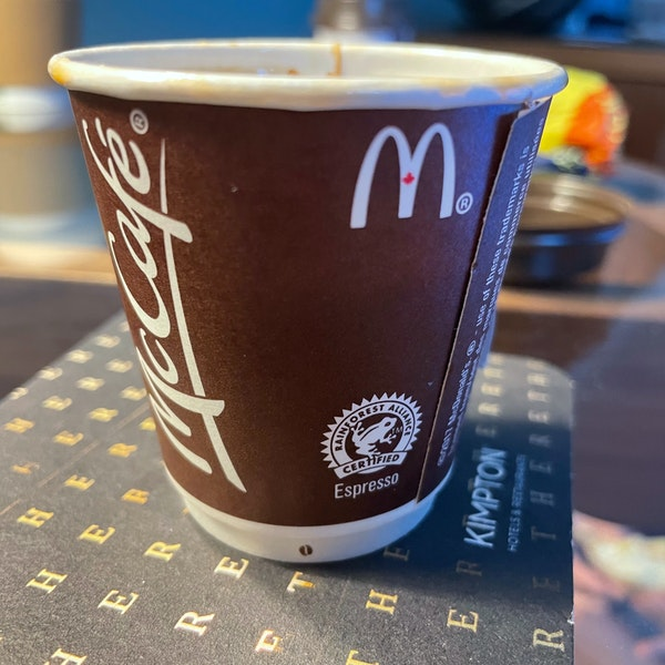 The Coffee Situation at Canadian McDonalds™