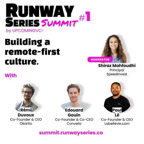 """Building a remote-first culture - Talk 2 of the """"Runway Series Summit: The Fundamentals of Success"""". Image"""