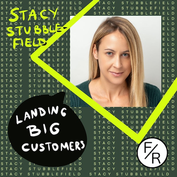 Landing BIG customers while being a small startup - story of Telesign by Stacy Stubblefield. Image