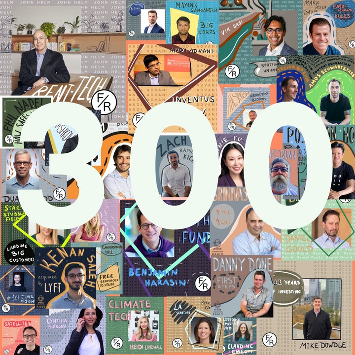 Episode image for 300th episode of Fundraising Radio - special edition.