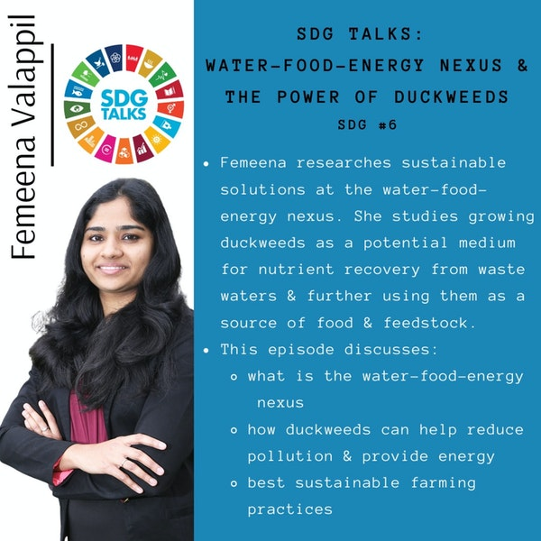 Breaking down The Water-Energy-Food Nexus and the Power of Duckweeds with Femeena Valappil Image