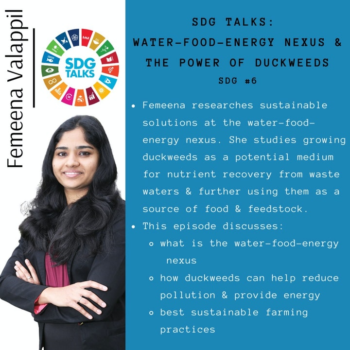 Episode image for Breaking down The Water-Energy-Food Nexus and the Power of Duckweeds with Femeena Valappil