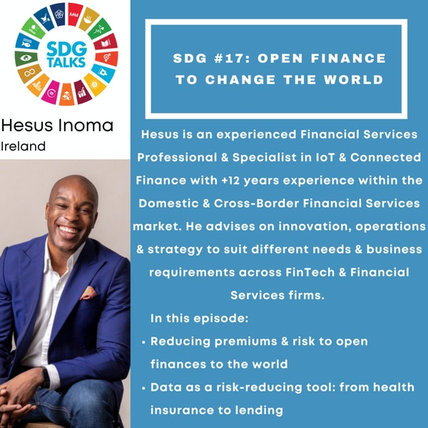 SDG #17 - Open Finance to change the world with Hesus Inoma Image