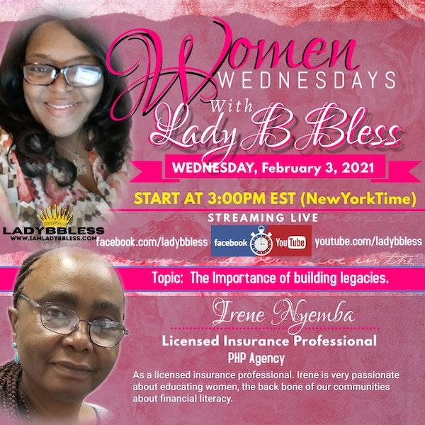 #21 February 3, 2021 (Irene Nyemba) Women Wednesdays with Lady B Bless Image