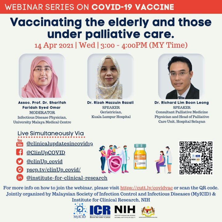 Vaccinating the elderly with comorbid and those under palliative care