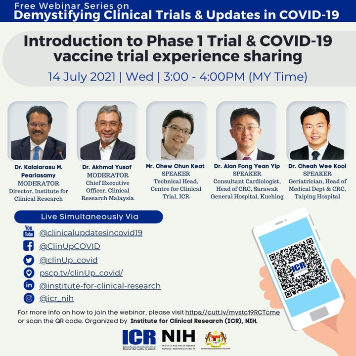 Introduction to Phase 1 Trial & COVID-19 vaccine trial experience sharing