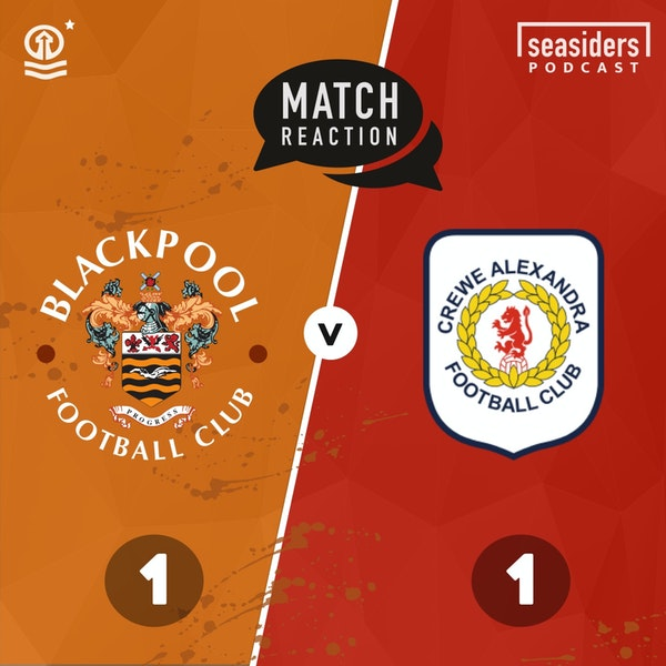 "Blackpool 1 - Crewe 1 : ""Buffered"""
