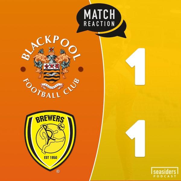 "Blackpool 1 - Burton 1 : ""Brewers Droop"""