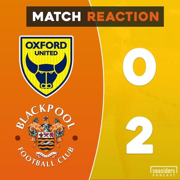 "Oxford United 0 - Blackpool 2 : ""Oxford Jabbed"""