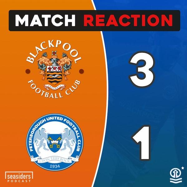 "Blackpool 3 - Peterborough 1 : ""Posh Nosh"""