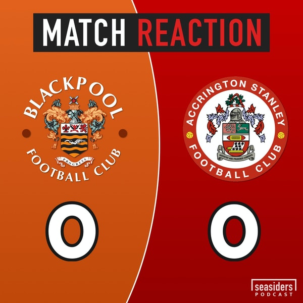 "Blackpool 0 - Accrington Stanley 0 : ""Captain Marvel-Maxwell"""