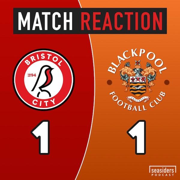 Bristol City 1 - Blackpool 1 : Late, Late Lavery Image