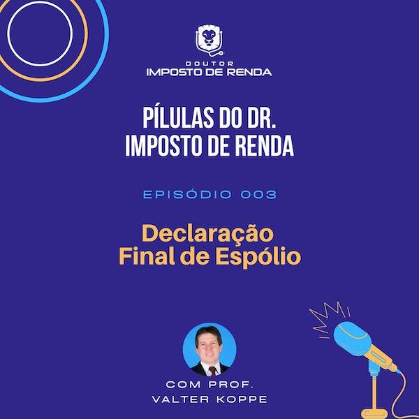 PDIR #003 - Declaração Final de Espólio