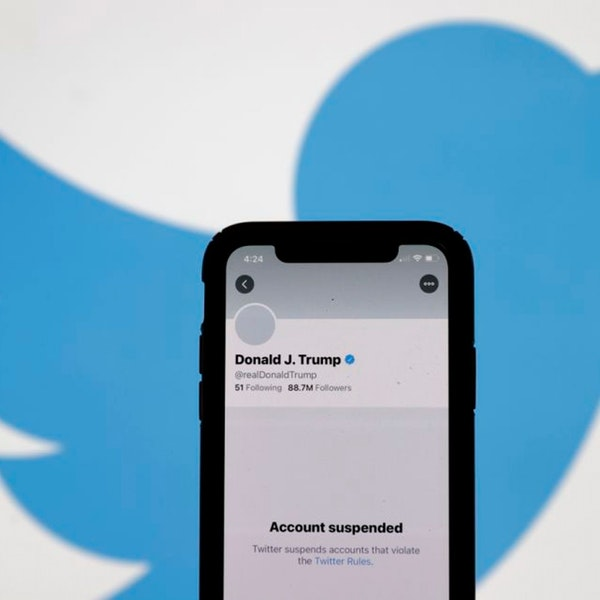 Trump Banned From Twitter Parler Removed and Censorship Image