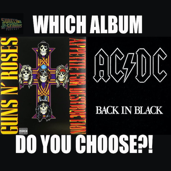 "Guns N' Roses ""Appetite for Destruction"" ('87) or AC/DC ""Back in Black"" ('80) Image"