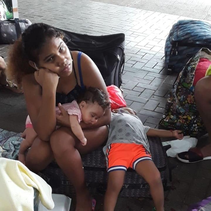 #ENTREVISTA   Situación de nicaraguenses varados en Panamá es crítica: dos menores en riesgo