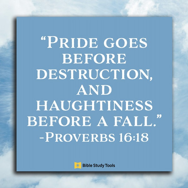 Bible Study Exercise: Pride Image