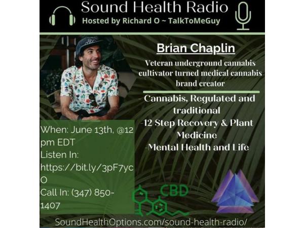 Brian Chaplin- Underground cannabis cultivator to medical cannabis brand creator Image