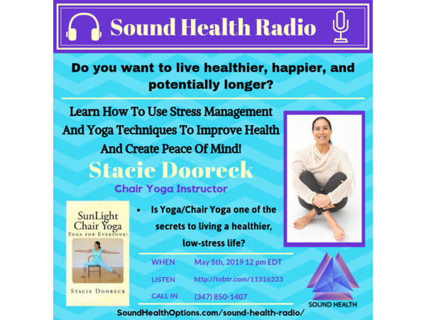 Stacie Dooreck- How Stress Management And Yoga Can Improve Your Health! Image