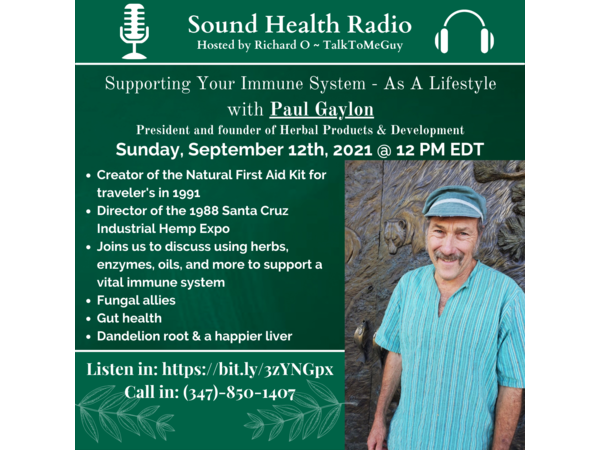 Supporting your Immune System - As a Lifestyle with Paul Gaylon Image