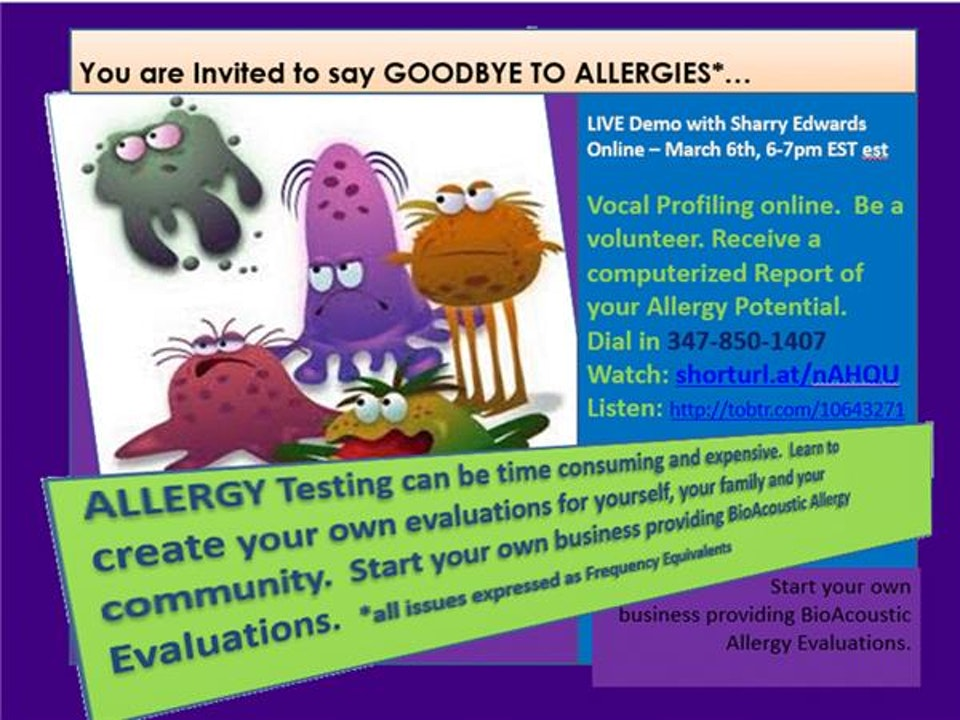 You are Invited to Say GOODBYE to ALLERGIES