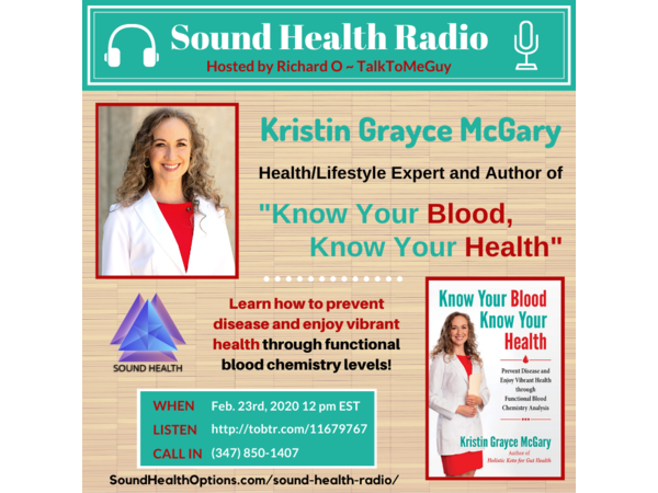 Kristin Grayce McGary - Know Your Blood, Know Your Health Image