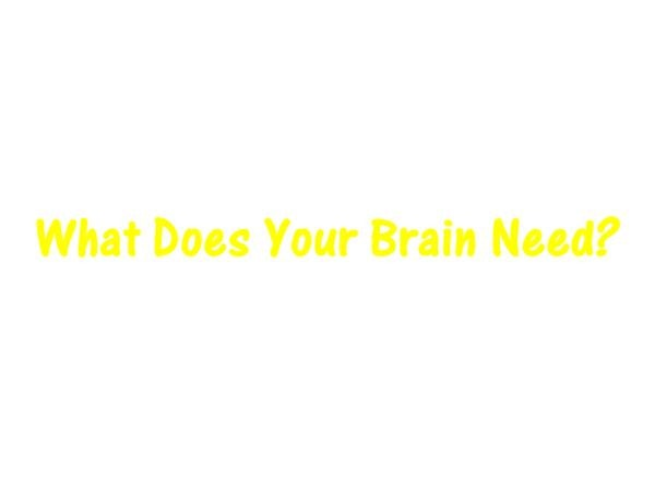 What Does Your Brain Need? Image