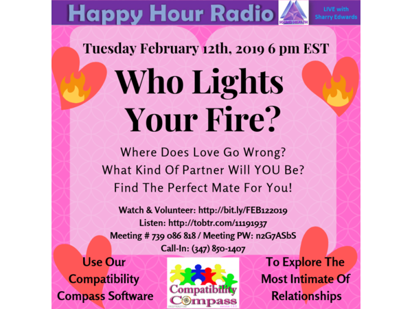 Happy Hour - Who Lights Your Fire? A Discussion About Compatibility Compass. Image