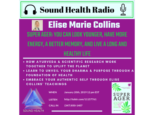 Sound Health Radio with Elise Collins & Her Book: Super Ager Image