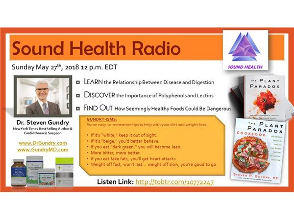 Sound Health Radio with Dr. Steven Gundry