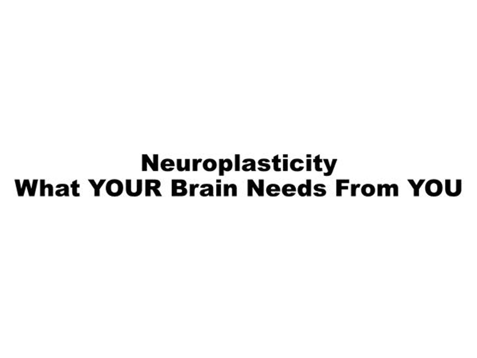 HH • Neuroplasticity: What YOUR Brain Needs From YOU