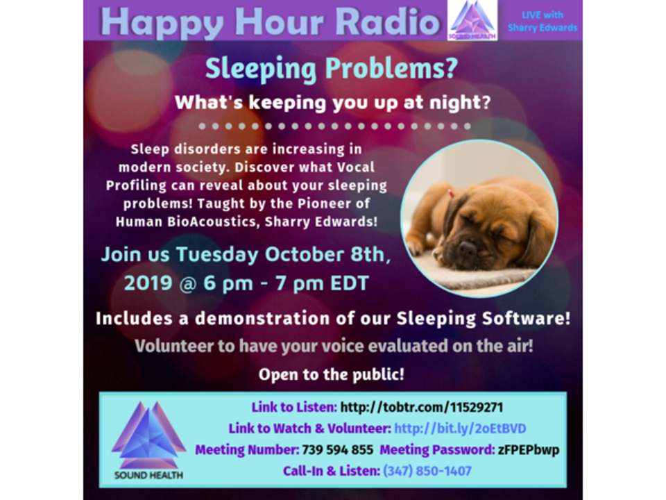 HAPPY HOUR - Sleeping Problems? What's Keeping You Up at Night?