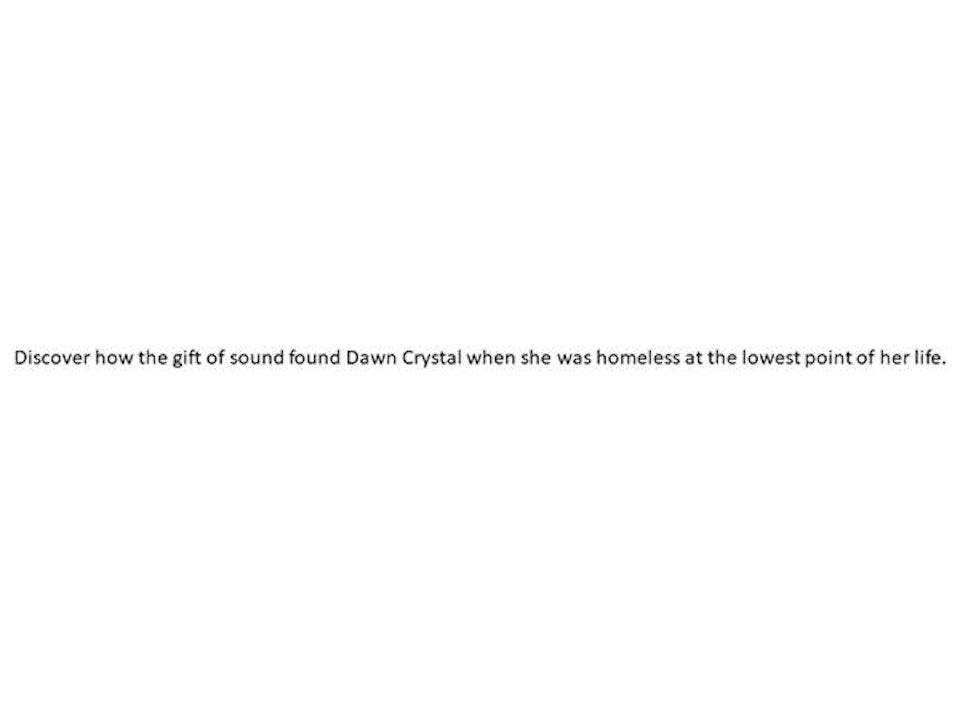 Sound Health Radio with Dawn Crystal
