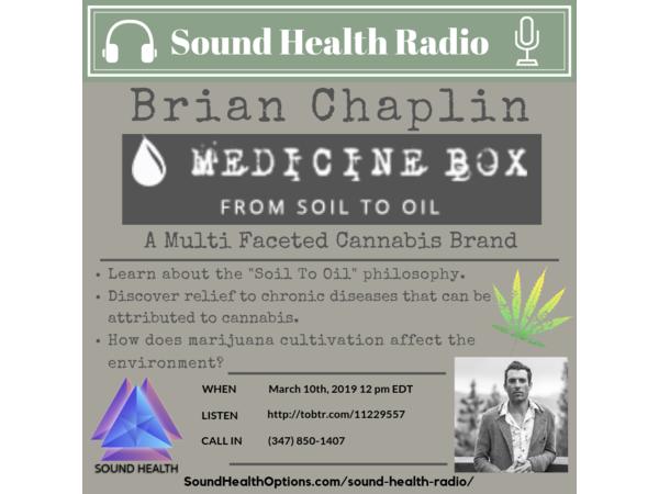Sound Health Radio Investigates Marijuana As Medicine With Brian Chaplin Image
