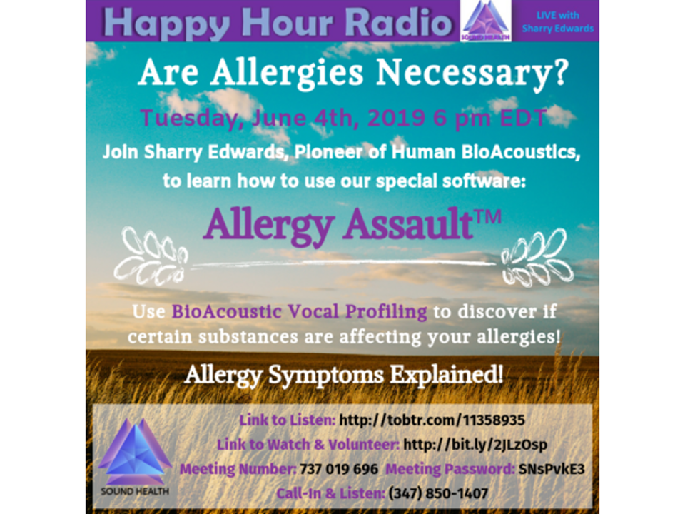 HAPPY HOUR - Are Allergies Necessary?