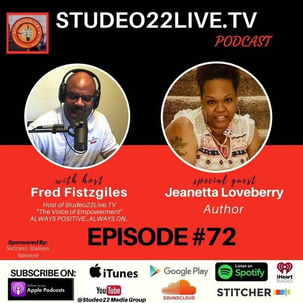 Episode #72 - Special Guest Author Jeanetta Loveberry Image