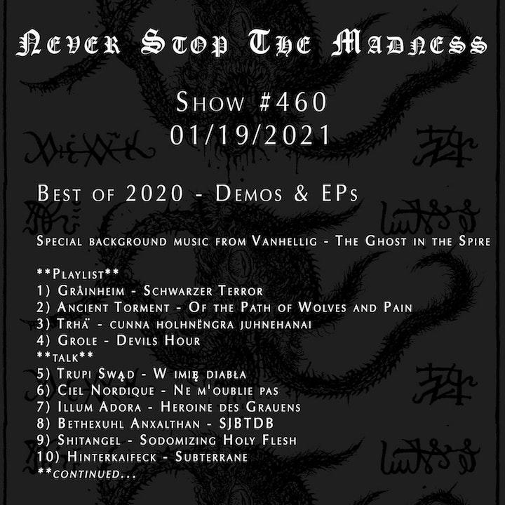 #460 - 01-19-21 - Best of 2020 : Demos & EPs