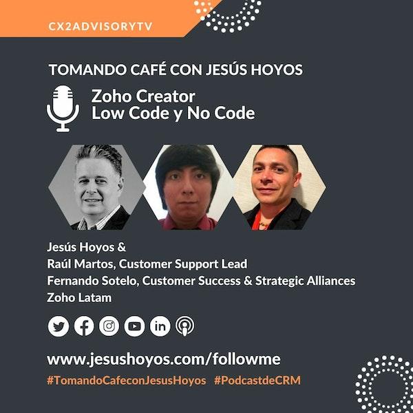 Edición Podcast - Tomando Café Con Jesus Hoyos  Zoho Creator - Plataforma De Low Code Image