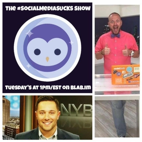 EPISODE 14 The Social Media SUCKS Show on Blab : How to Create Great Content w/ Vincenzo Landino Image