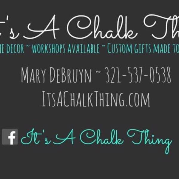 Mary DeBruyn: It's a Chalk Thing