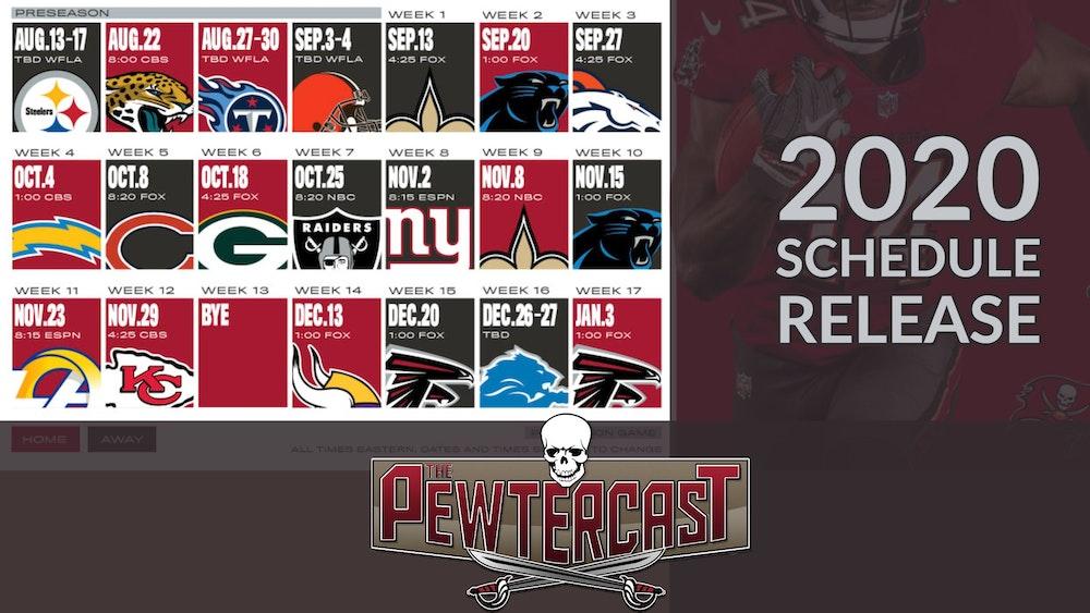 2020 Buccaneers Schedule Release